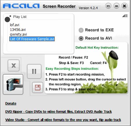 Acala screen recorder 4. 2. 4 download.