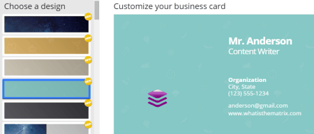 business card maker or bizcardmakercom offers you lots of options for making your business card it has a nice collection of business card templates - Free Online Business Card Maker