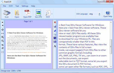 FreeOCR Is A Versatile Free OCR Optical Character Recognition Program For Windows It Lets You Scan The Hard Documents With Help Of Scanner And
