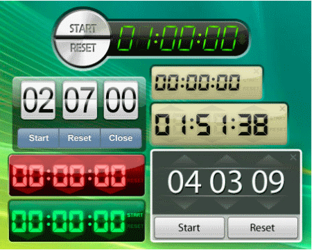 free desktop timer is a free application that lets you set countdown timer for various events