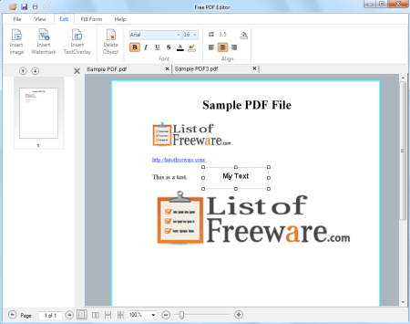 dl pdf editor is a small pdf editor software for windows it lets you edit pdf files easily you can open multiple pdf files in tabs