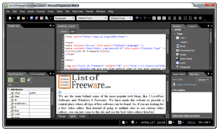 14 Best Free Wysiwyg Html Editing Software For Windows