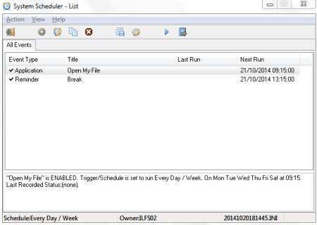 System scheduler: task scheduler alternative for windows pc.