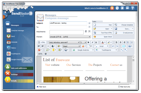 bulk email marketing software free download