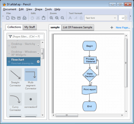 10 best free flowchart software for windows pencil is a handy drawing tool which is primarily used for creating desktop and mobile drawing but you can also use it for making flowchart and diagram ccuart Gallery