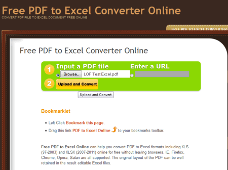 convert pdf into excel online free