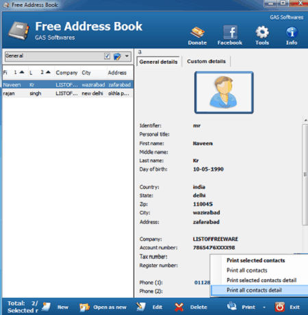 7 Best Free Printable Address Book Software For Windows