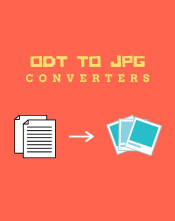 Best Free ODT to JPG Converter Software for Windows
