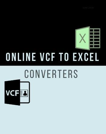4 Best Free Online VCF to Excel Converter Websites