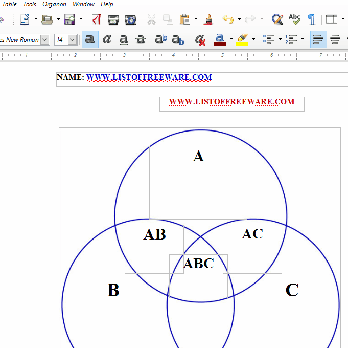 10 best free venn diagram maker for windows 3 circle venn diagram free word doc ccuart Choice Image