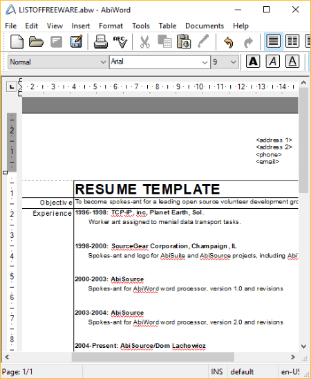 Word 2003 Resume Template from static.listoffreeware.com