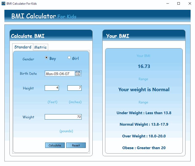 50 Best Free Bmi Calculator For Windows