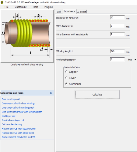 5 best free inductance calculator for windows coil32 is a free inductance calculator for windows both installer and portable versions of this software are available on its website greentooth Images