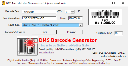 Preprinted barcode labels