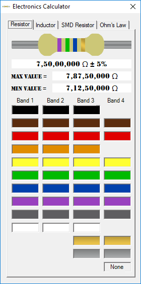 Does an inductor has a colour code? - Quora  Inductance Color Code Calculator