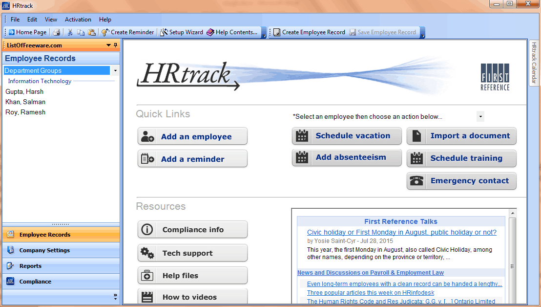 Employee record management software, free download. software
