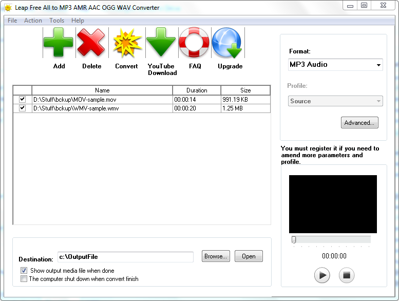 Aglare All to MP3 AAC AC3 AMR Converter download pc