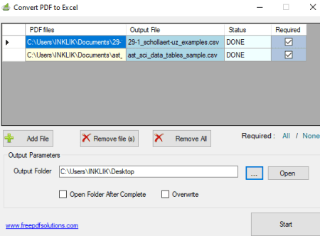 Software to Batch Convert PDF to Excel