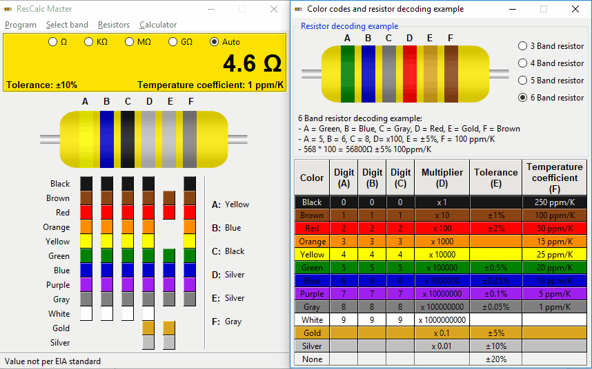 Download free resistor colour code solver, resistor colour code.