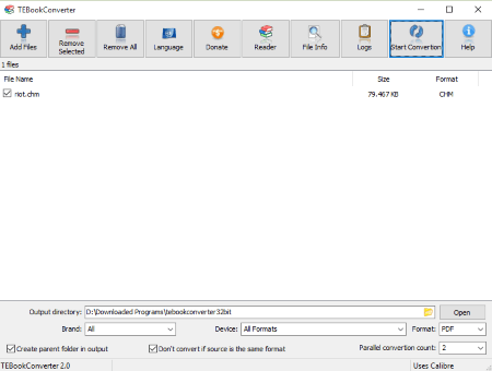 convert chm to pdf software free download