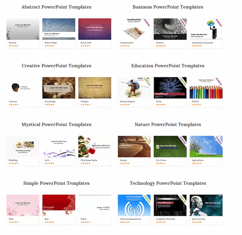 Best websites to download free powerpoint templates bestpowerpoint templates toneelgroepblik Gallery