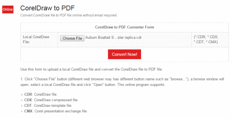 4 Best Free Websites To Convert CDR To PDF Online