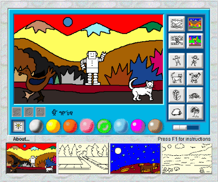 Is Another Drawing Software In Our List Of Free Paint For Kids This Lets Your Different Pictures With Colors