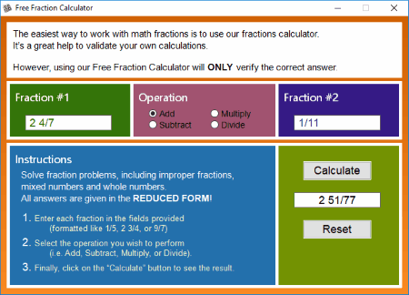 9 Best Free Fractions Calculator Software For Windows