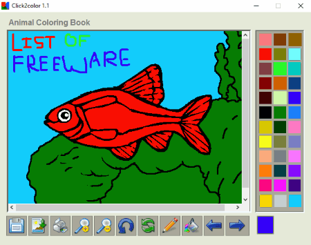 Click2Color Is A Very Basic Free Coloring Book For Kids This Software Ideal Of Lower Age Groups By Playing With