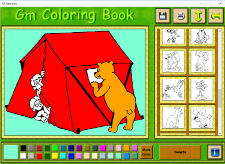 Gm Coloring Book Is Another Simple Software In This List It Comes With Many Sketches Which Kids Can Use For