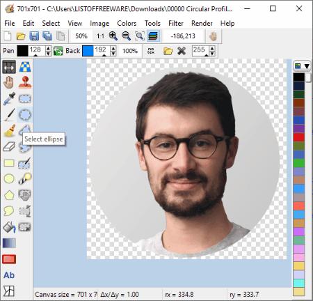 free circular profile picture maker software