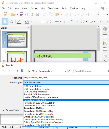 odp to ppt converter software free download