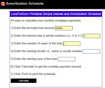 103 best free online amortization schedule maker