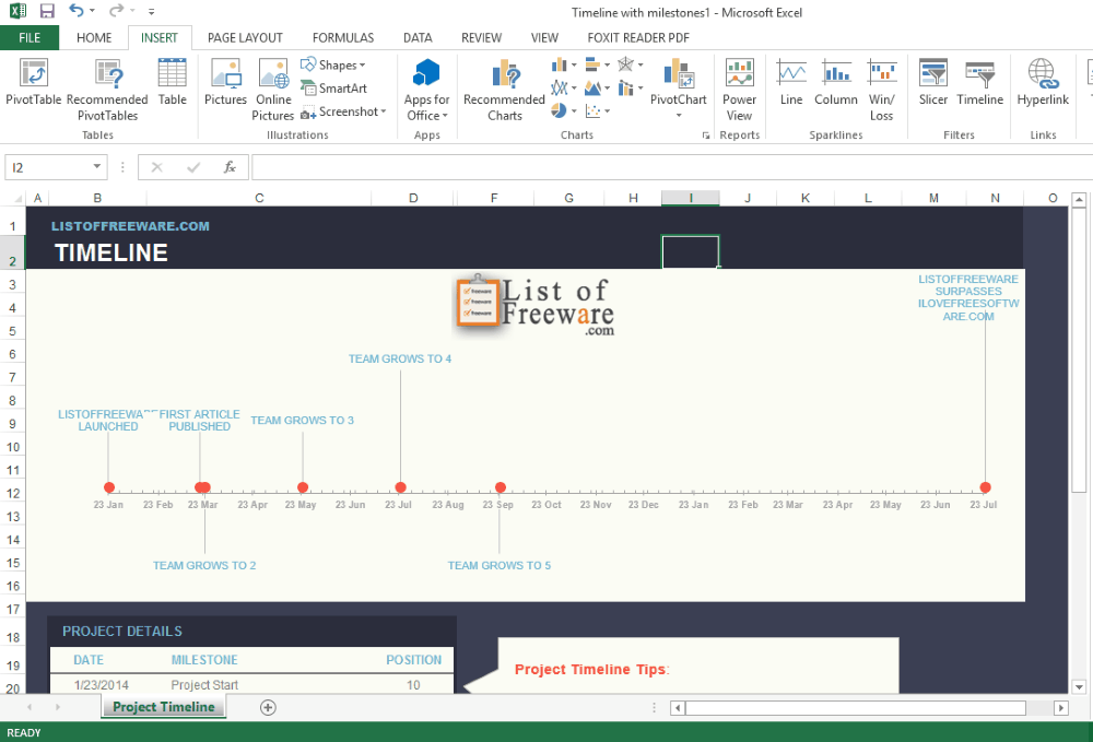 7 best free timeline maker software for windows