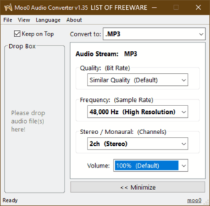 convert mp3 to m4a free