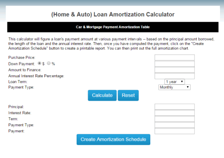 simple mortgage calculator with amortization schedule