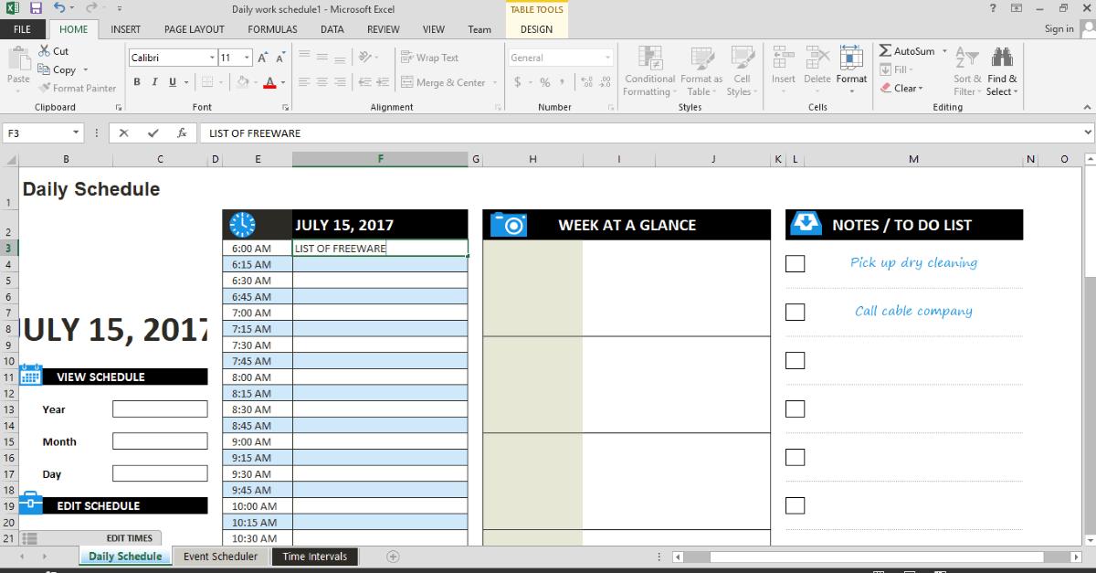 10 best free schedule maker software for windows
