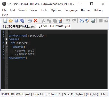 Yaml editor vs code