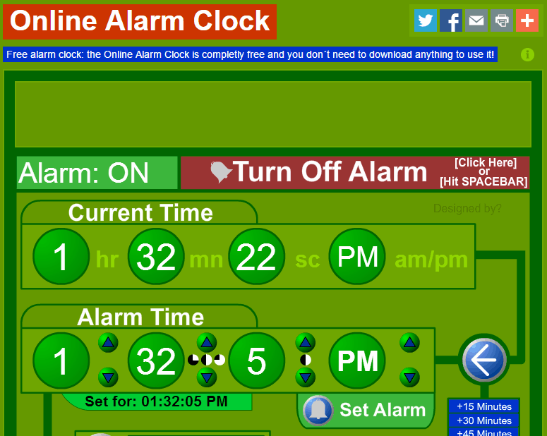 Online Free Alarm
