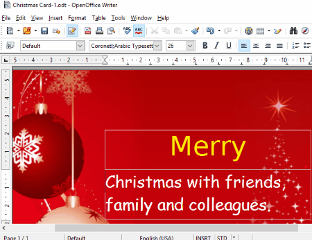 christmas card templates for ms word openoffice writer libreoffice writer
