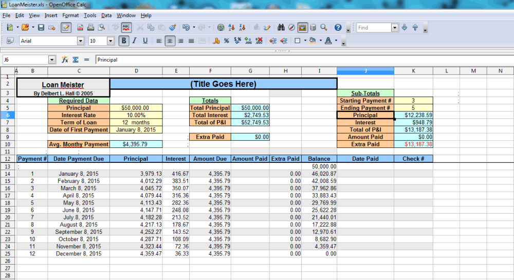 best free amortization shedule maker software