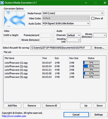 OGG to WAV online file converter
