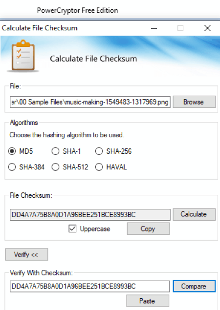 free file integrity checker