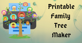 It is a graphic of Critical Printable Family Tree Maker