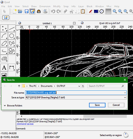 SVG to DXF converter software