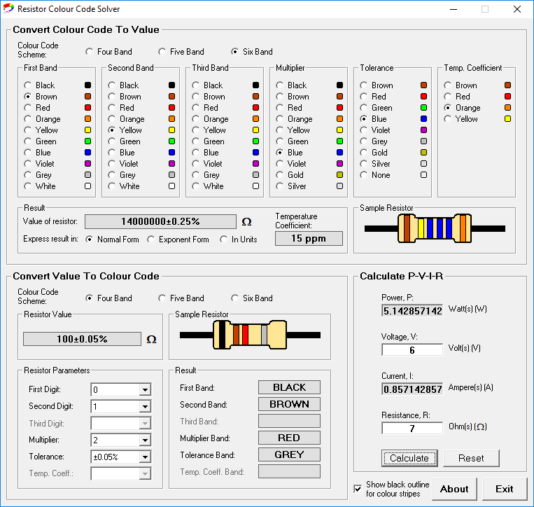 11 Best Free Resistor Color Code Calculator For Windows