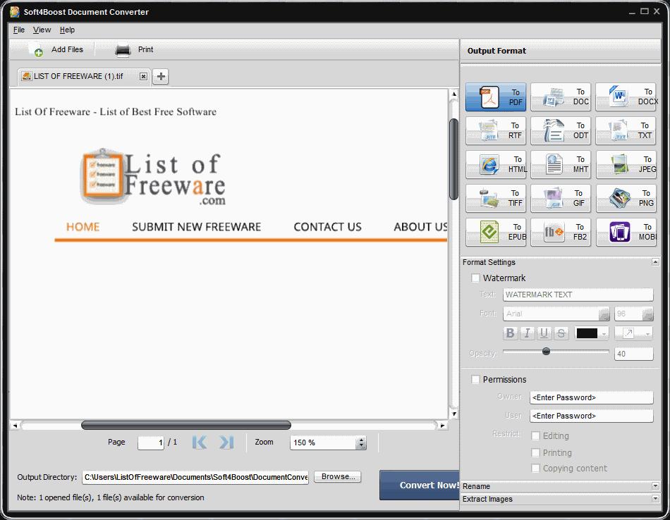 tiff to pdf converter free