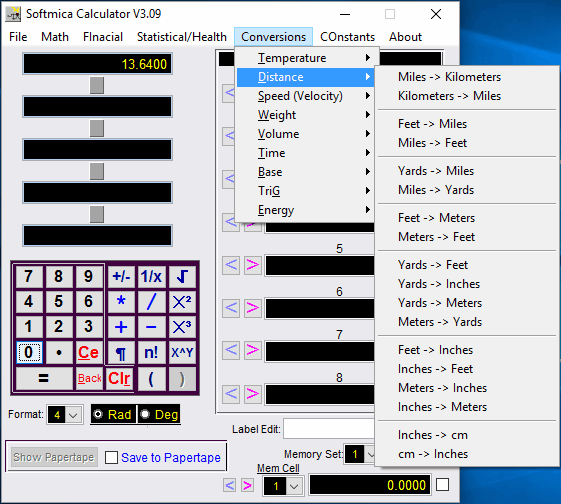 Softmicacalc Is Another Multi Purpose Calculator With Unit Conversion Option Look For The In Toolbar Click On Conversions