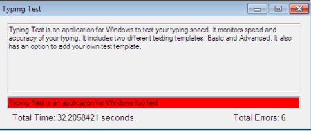 Typing Test Is An Application For Windows To Your Speed It Monitors And Accuracy Of Includes Two Different Testing