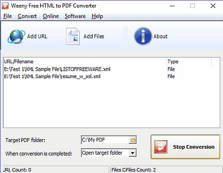 xml to pdf converter software free download